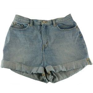 BDG Urban Outfitters High Rise Jean Shorts Blue
